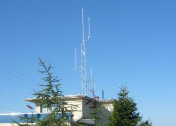 Masz antenowy łączności kolejowej w Ulkowie