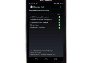 Motorola AME 200 bezpieczny smartfon