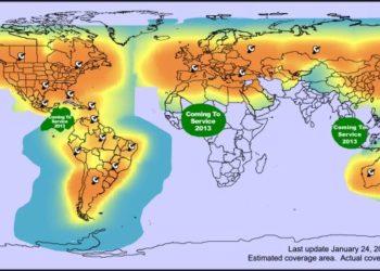 Zasięg sieci Globalstar - łączność głosowa