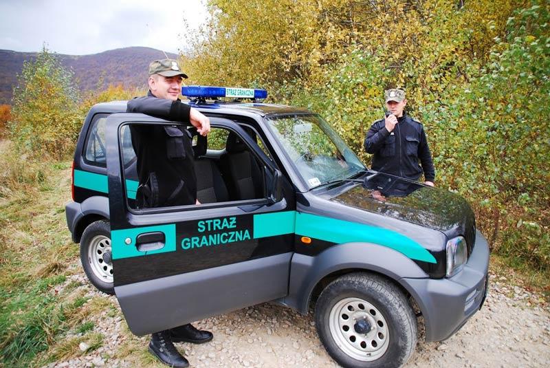 Funkcjonariusze Straży Granicznej