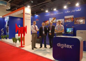 Zespół digitex podczas Intersec 2015 Dubaj
