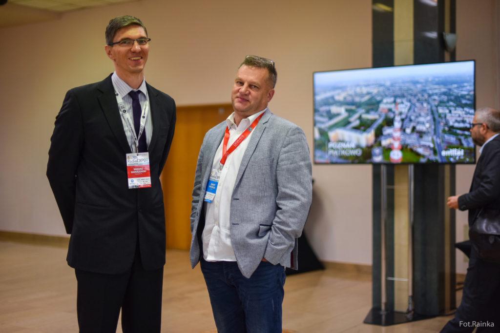 Mariusz Waruszewski i Robert Kościesza na konferencji RadioEXPO 2018 w Warszawie