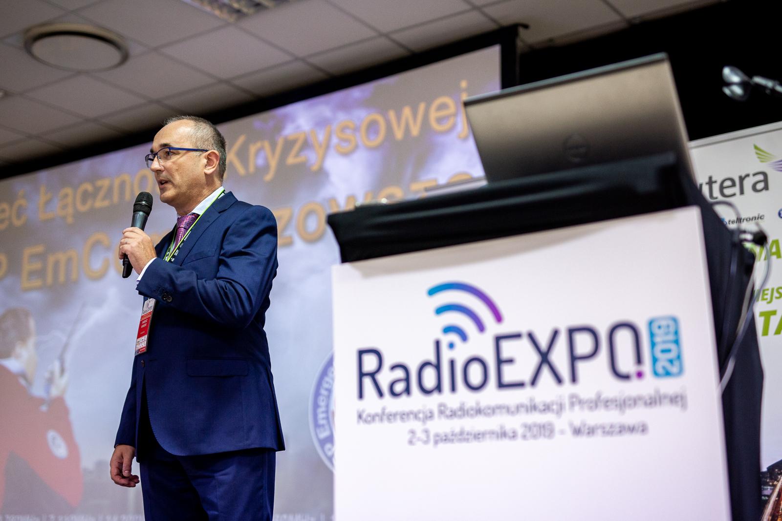 Mariusz Kaniecki prowadzący RadioEXPO 2019