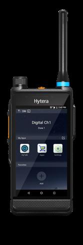 Hytera radiotelefon DMR i 4G/3G szerokopasmowy widok z przodu