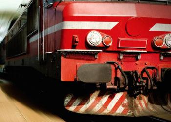 Czerwona lokomotywa PKP PLK