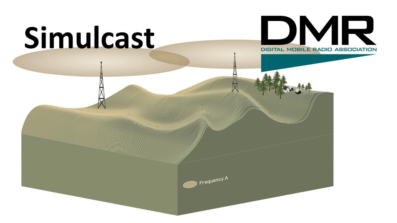 Simulcast DMR system radiowy