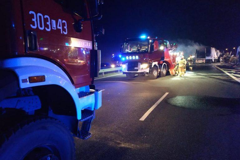 Straż Lublin wypadek na obwodnicy