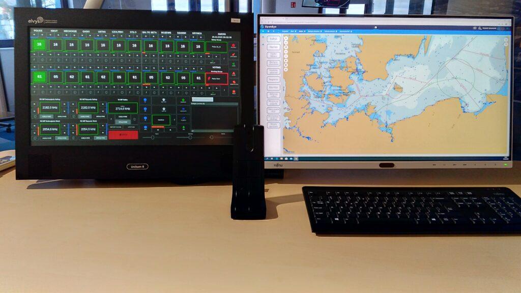 Elvys konsola dyspozytorska Unikom-9 morski system łączności w niebezpieczenstwie GMDSS